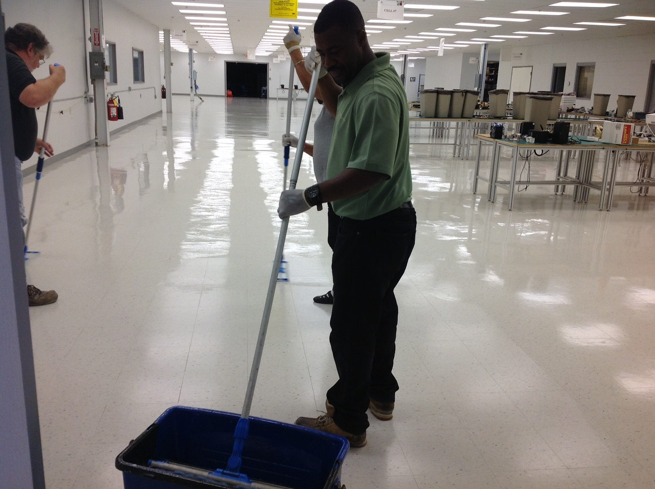 Commerical Floors - Waxing